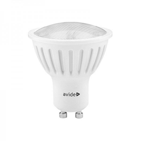 SONDERPOSTEN - Avide LED Spot Plastic 4W GU10 110° CW kaltweiß 6400K