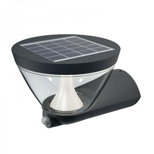 Osram LED Wandleuchte Endura Style Lantern Solar 5W/830 340lm warmweiß nicht dimmbar dunkelgrau IP44