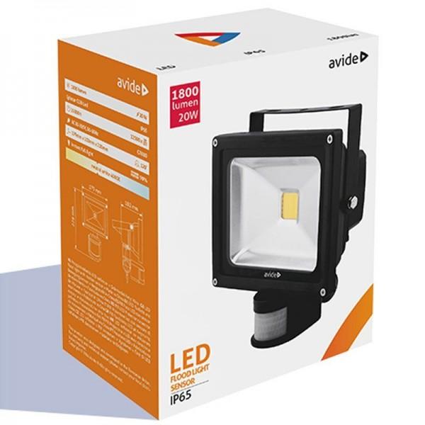 SONDERPOSTEN - Avide LED Flood Light IP65 10W NW neutralweiß 4000-45000K with PIR