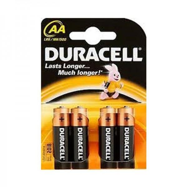 Duracell Batterien Basic DBAA AA 4er Blister