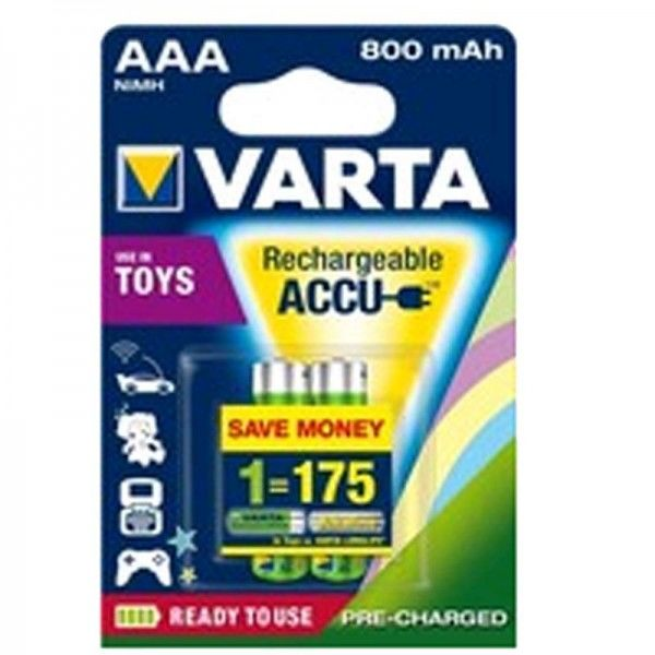 SONDERPOSTEN - Varta Toy Akku Ready2Use AAA 56783 800mAh 2er Blister