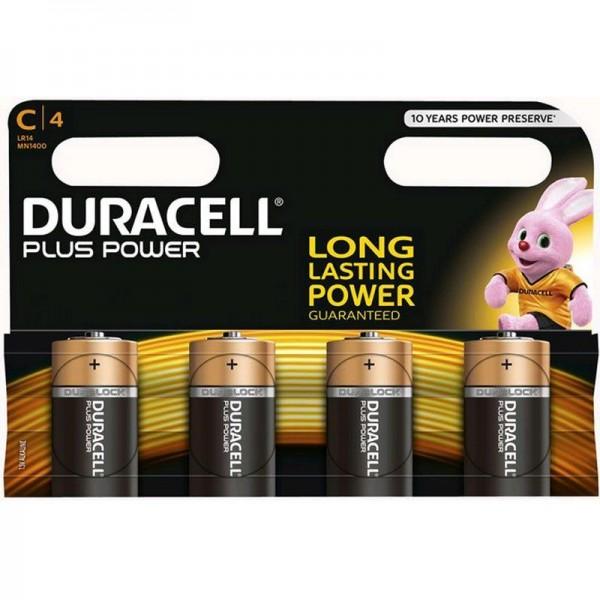 Duracell Batterien Plus Power MN1400 - C K 4er Blister