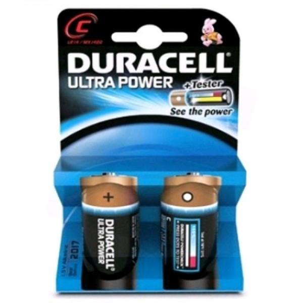 Duracell Batterien Ultra Power DUPC C 2er Blister