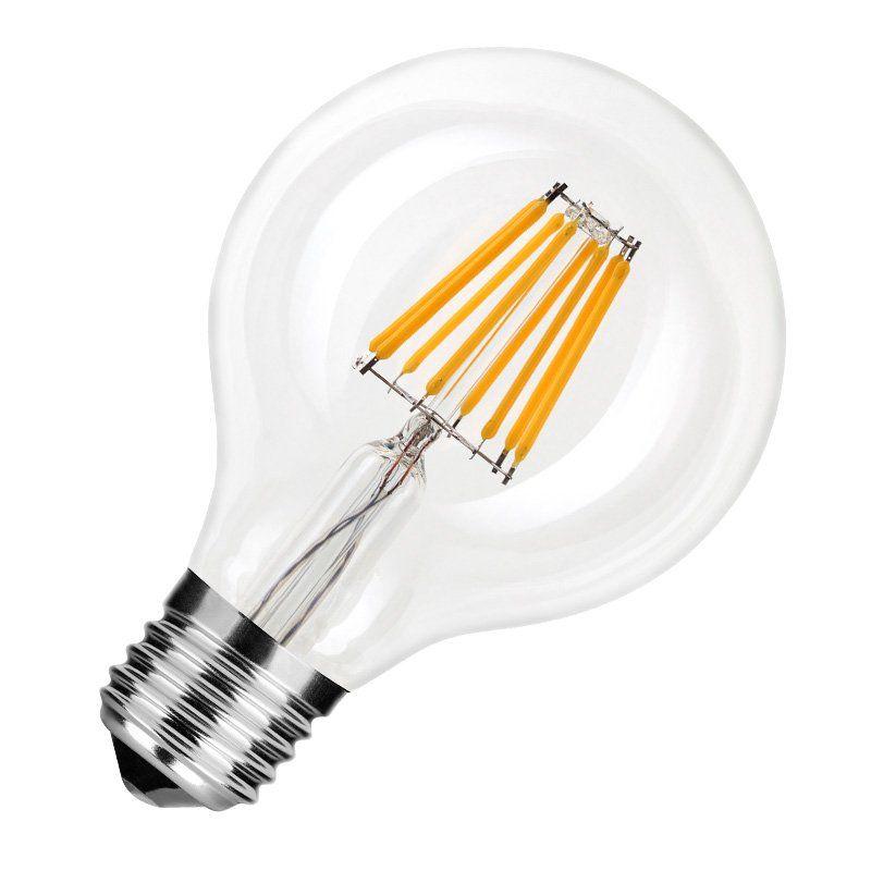 LED Filament Leuchtmittel Globe G125 8W = 75W E27 Opal 827 warmweiß 2700K 360°