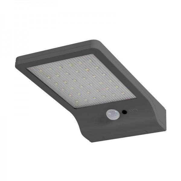 Osram LED Wandleuchte DoorLED Solar 3W/840 320lm kaltweiß nicht dimmbar silber IP44