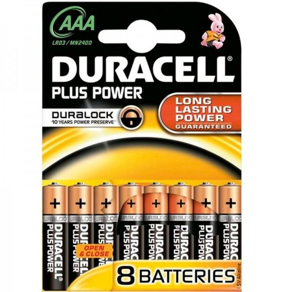 Duracell Batterien Plus Power MN2400 - AAA BPH 8er Blister