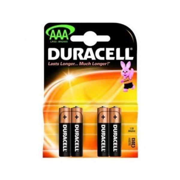 Duracell Batterien Basic DBAAA AAA 4er Blister