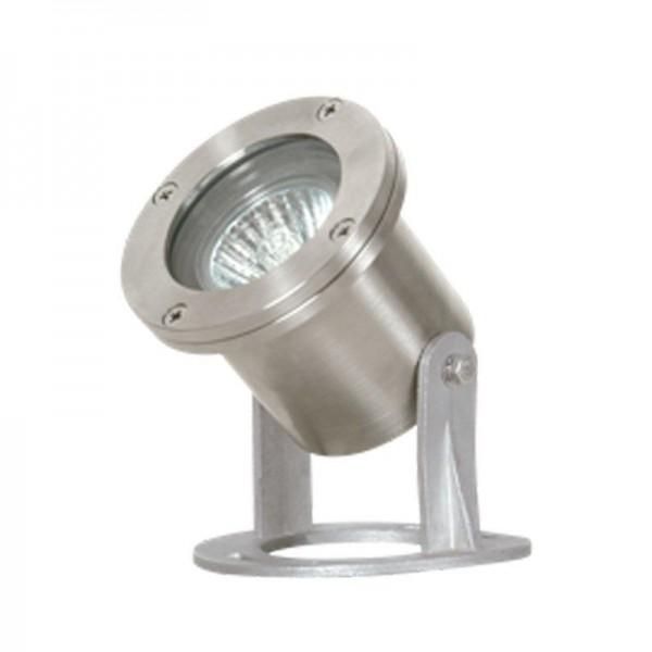 SONDERPOSTEN - I-Light Außenstrahler Rund Silber, IP 68 typ7651 inox